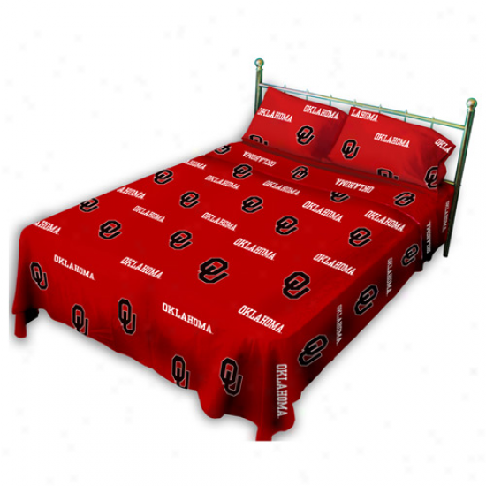 Oklahoma Sooners Crimson Collegiate Sheet Set