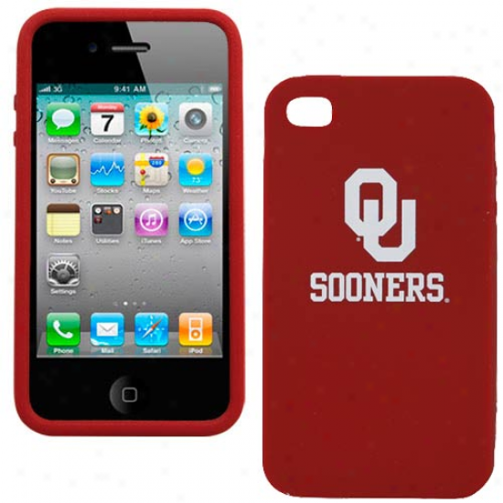 Oklahoma Sooners Crimson Silicone Iphone 4 Cover