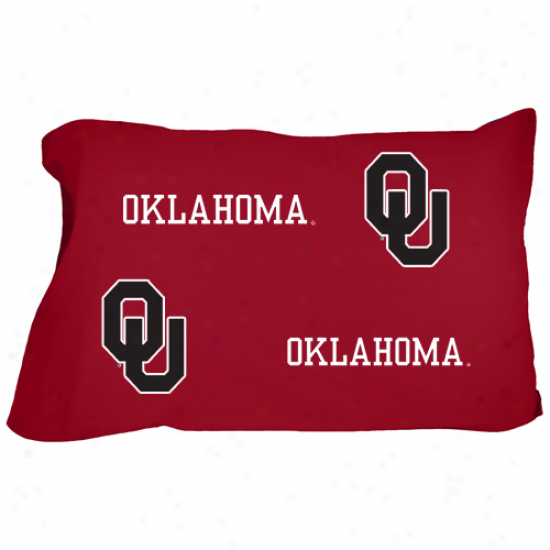 Oklahoma Sooners Crimson Standard Pillow Case