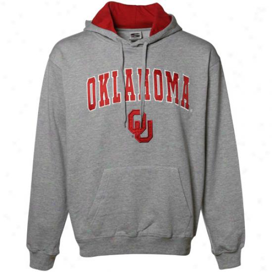 Oklahoma Sooners Gray Classic Twill Hoody Sweatshirt-
