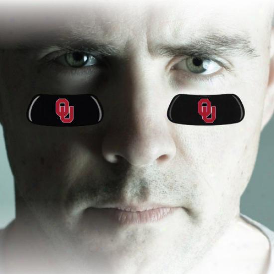 Oklahoma Sooners Team Logo Eyeblack Strips