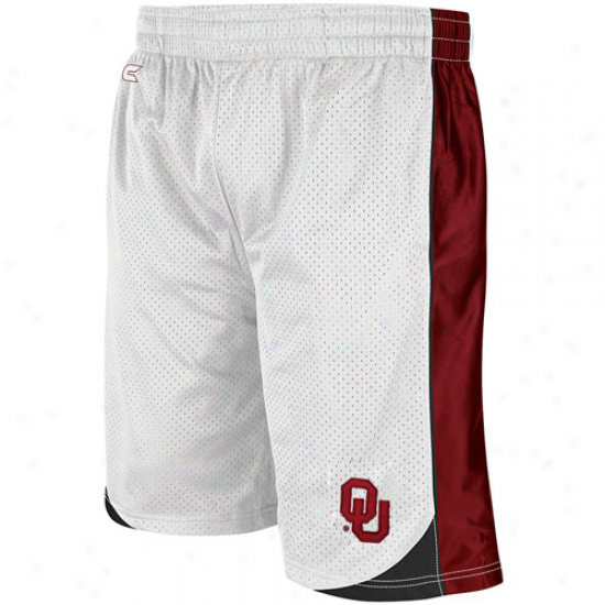 Oklahoma Sooners Vector Workout Shorts - White