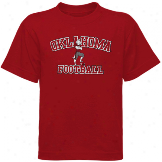 Oklahomz Sooners Young men Crimson Sooner Jr. Basic T-shirt