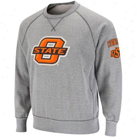 Oklahoma State Cowboys Ash Outlaw Crew Sweatshirt
