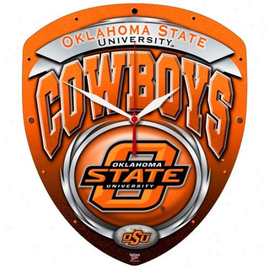 Oklahoma State Cowboys Hi-def Wall Clock