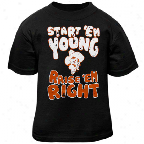 Oklahoma State Cowboys Infant Start 'e Young T-shirt - Black