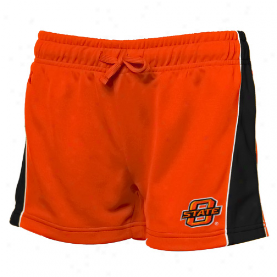 Oklahoma State Cowboys Ladies Orange Colt Workout Shorts