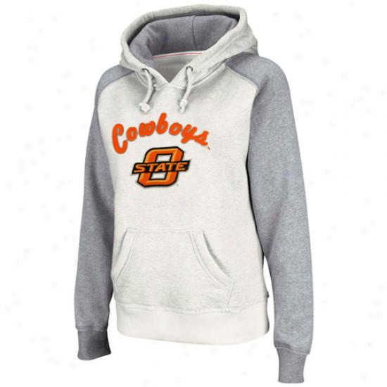 Oklahoma State Cowboys Ladies Stoneash Mesa Logo Pullover Hoodie Sweatshirt