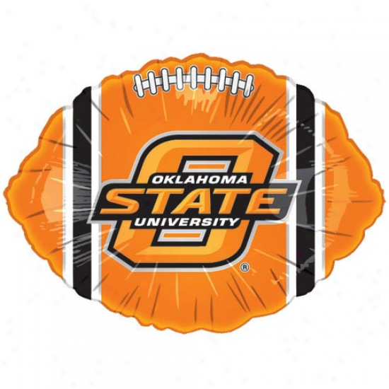 Oklahoma State Cowboys Orange 18'' Foil Football Balloon