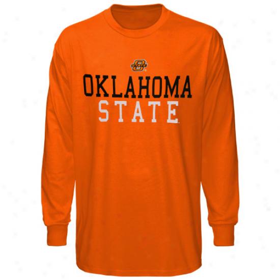 Oklahoma State Cowboys Youth Orange Locker Room Long Sleeve T-shirt
