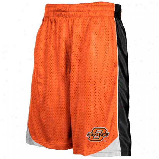 Oklahoma State Cowboys Youth Orangee Vector Workout Shorts