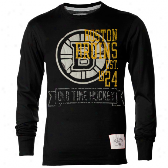 Old Time Hockey Boston Bruins Axel Premium Long Sleeve T-shirt - Wicked