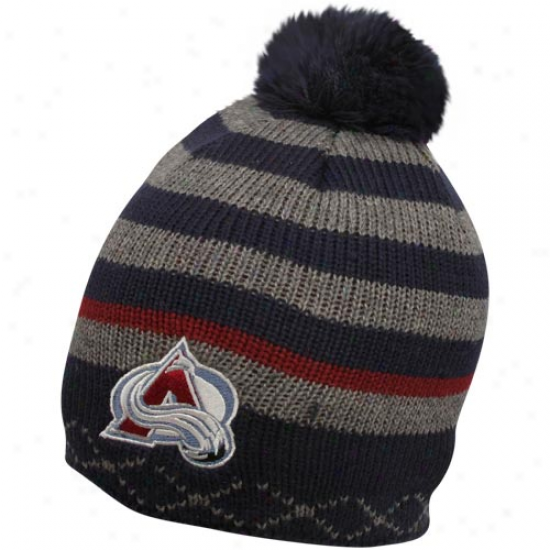 Old Time Hockey Colorado Avalanche Nvay Blue-charcoal Nucleus Cuffless Beanie