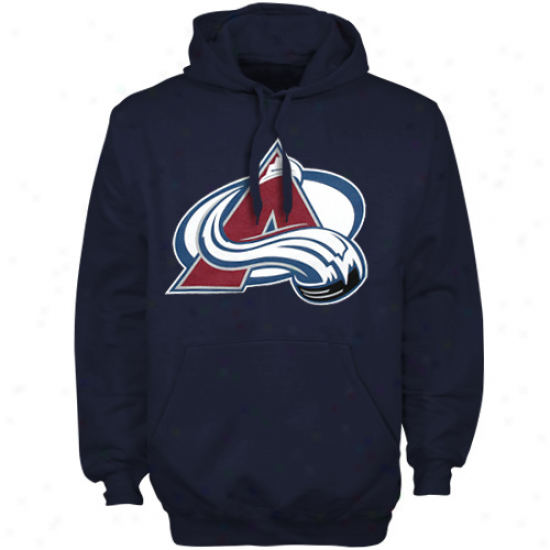 Old Time Hockey Colorado Avalanche Youth Navy Blue Big Logo Pullover Hoodie Sweatshirt