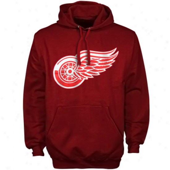 Old Time Hockey Detroit Red Wings Red Big Primary Logo Pullover Hoodie Sweatshirt