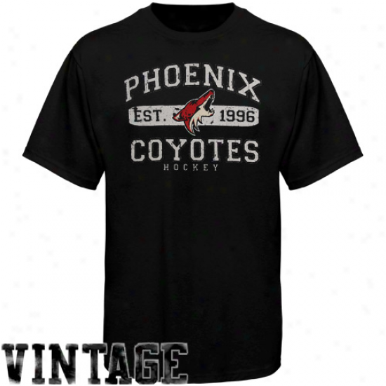 Old Time Hockey Phoenix Coyotes Youth Cleric T-shirt - Black