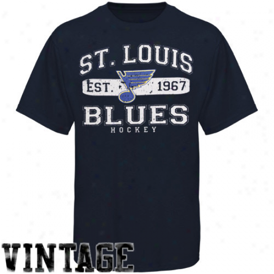 Old Time Hockey St. Louis Blues Yoth Cleric T-shirt - Ships Blue