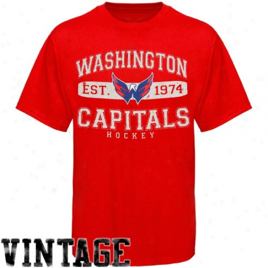 Old Time Hockey Washington Capirals Cleric T-shirt - Red