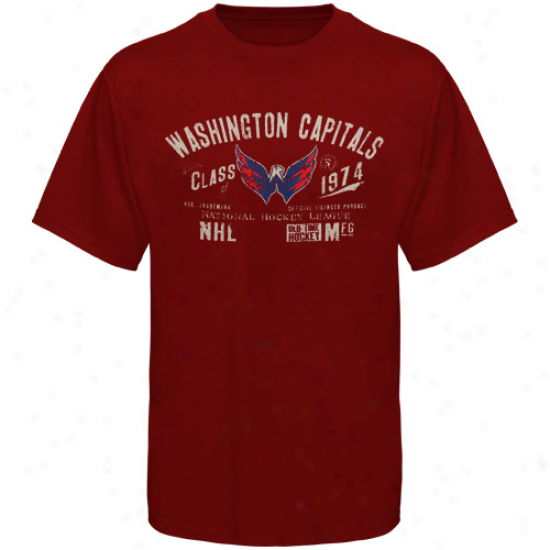 Crafty Time Hockey Washington Capitals Morrison Premium T-shirt - Red