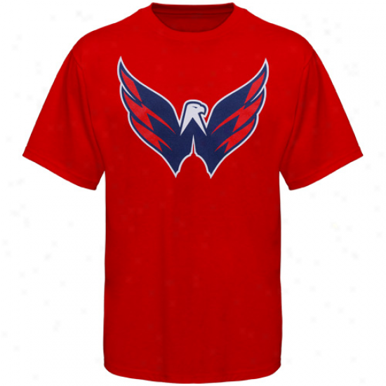 Old Time Hockey Washington Capitals Youth Big Logo T-shirt - Red