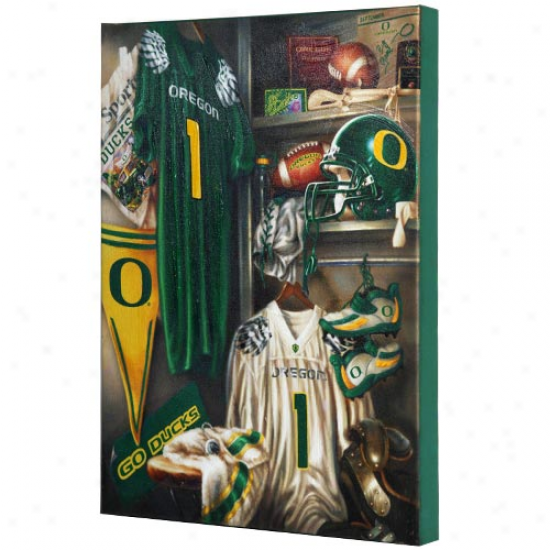 Oregon Ducks 13'' X 17'' Locker Room Canvas Print