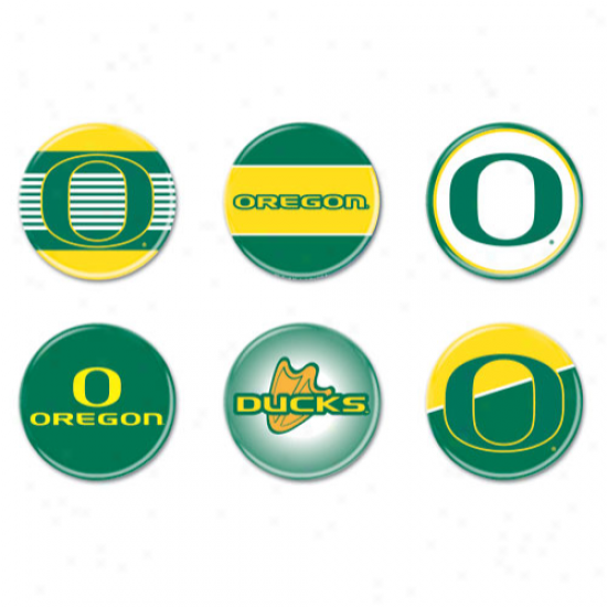 Oregon Ducks 6-count Button Fun Collection