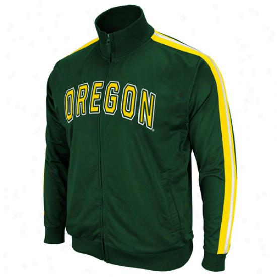 Oregon Ducks Green Pace Full Zip Track Jacket