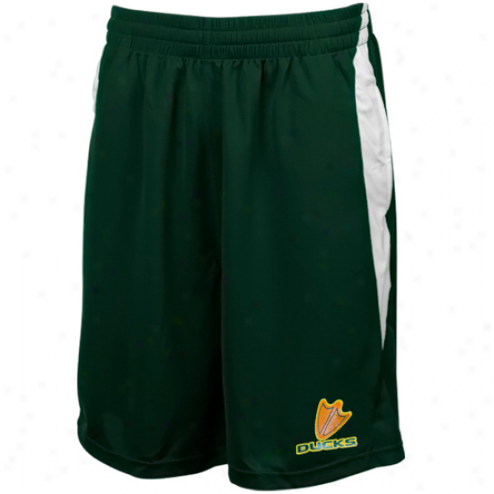 Oregon Ducks Green Side Block Stunner Mesh Shorts