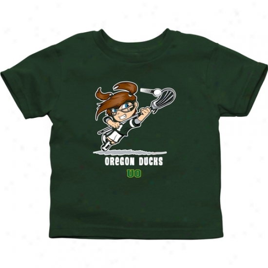 Oregon Ducks Infant Girls Lacrosse T-shirt - Green