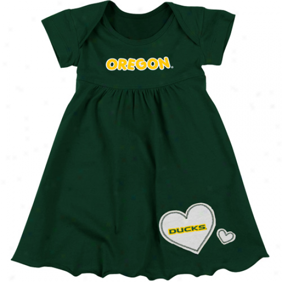 Oregon Dycks Infant Girls Superfan Dress - rGeen