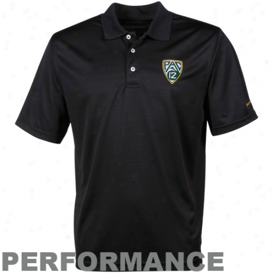Oregon Ducks Pac-12 Black Meeting for consultation Pique Performance Polo