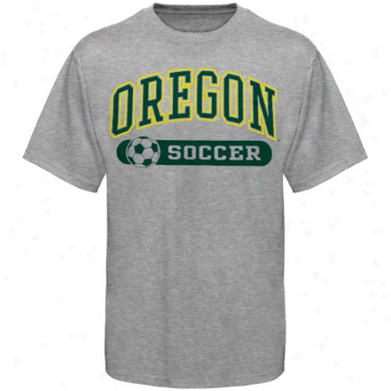 Oregon Ducks Soccer Sporrs And Pride T-shirt - Ash