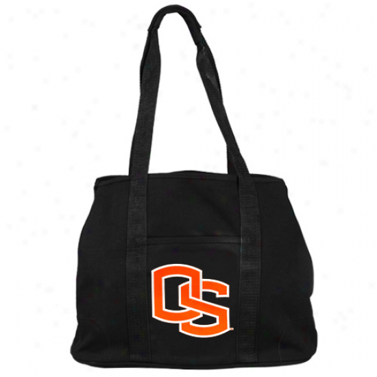 Oregon State Beavers Black Domestic Tote Bag