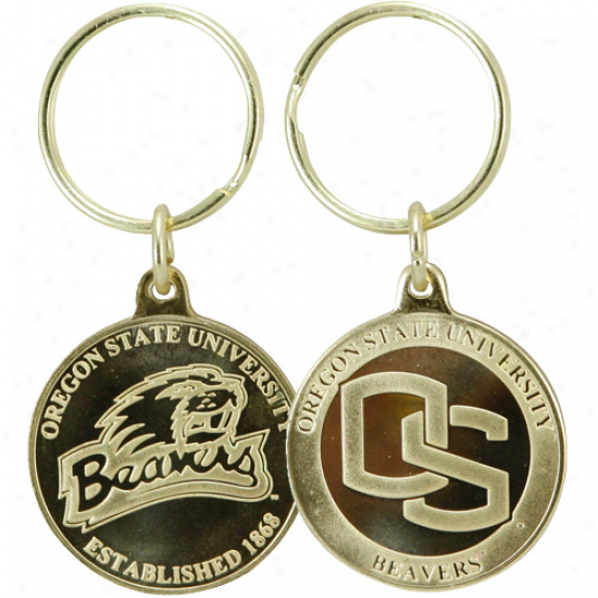 Oregon State Beavers Bronze Coin Keychain