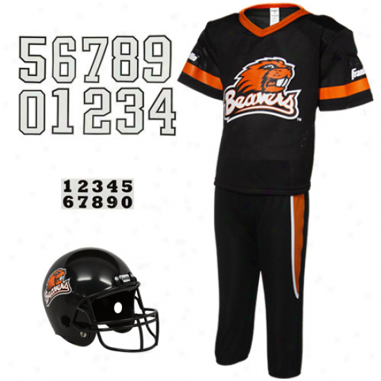 Oregon State Beavers Youth Black Deluxe Team Uniform Set