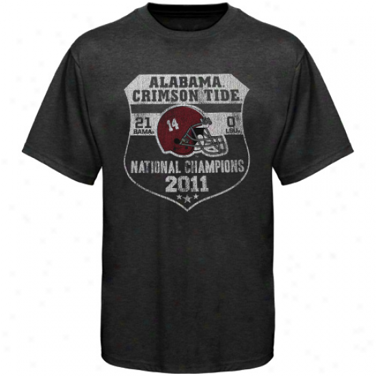 Original Retro Brand Alabama Crimson Tide 2011 Bcs National Champions Heathered Score T-shirt - Black