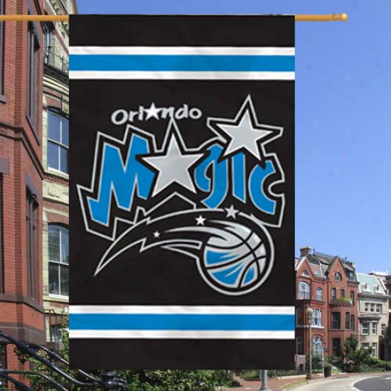 Orlando Magic 28'' X 44'' Black Applique Vertical Flag Flag