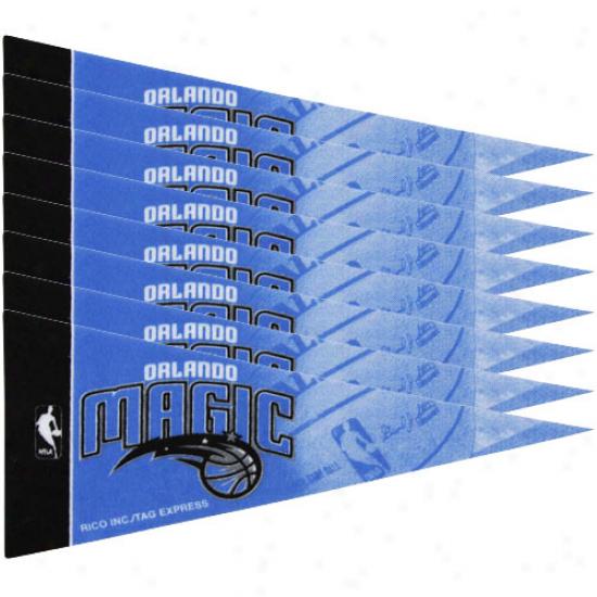 """orlando Magic 8-pack 4"""" X 9"""" Royal Blue Mini Pennant Set"""
