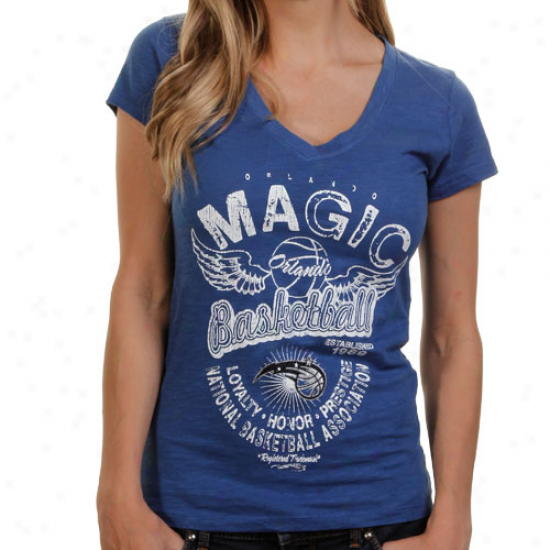 Orlando Magic Ladies Gunner Glitz T-shirt - Royal Blue