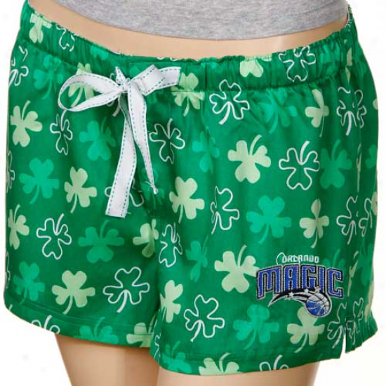 Orlando Sorcery Ladies Kelly Inexperienced Colleen Boxer Shorts