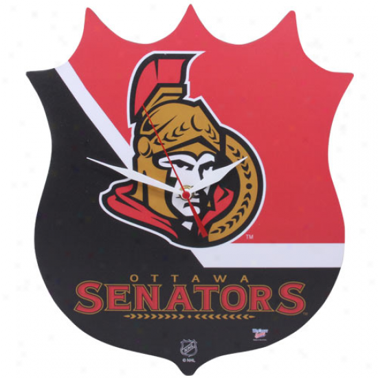 Ottawa Senators High-definition Plaque Clock