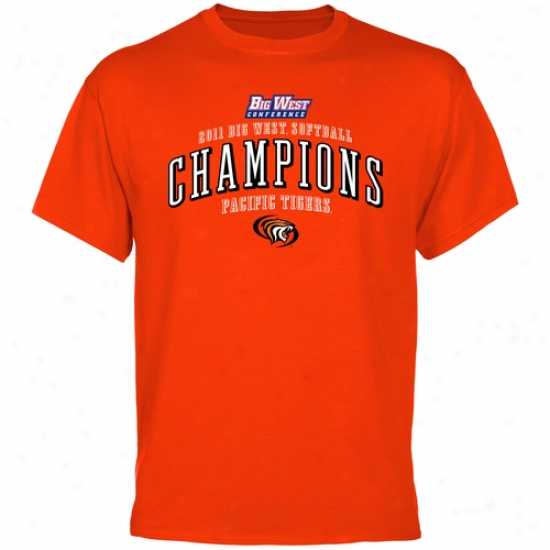 Pacific Tigers 2011 Big West Softball Champions T-shirt - Orange