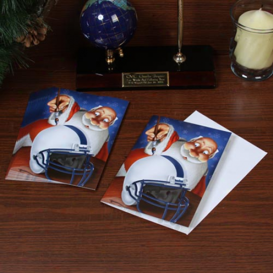 Penn State Nittany Lions 12-pack Alone Santa Painting Purpose Christmas Cards