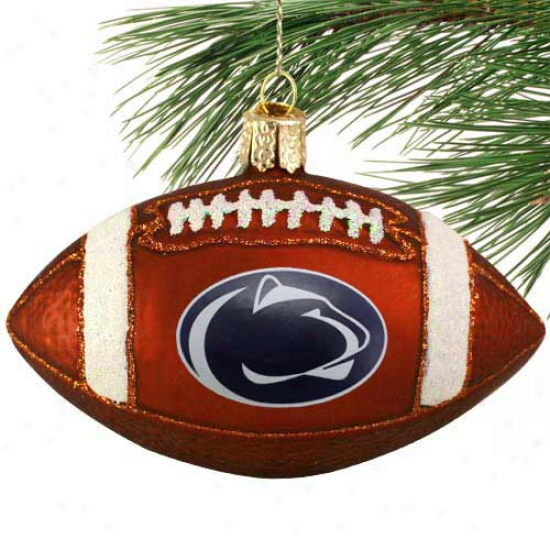 Penn State Nittany Lions 4'' Glass Football Ornament