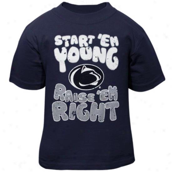 Penn State Nittany Lions Infant Start 'em Young T-shirt - Navt Blue