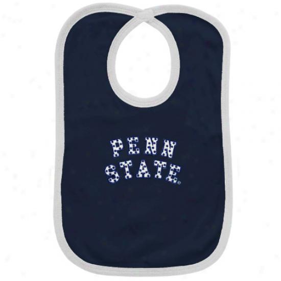 Penn State Nittany Liojs Navy Blue Polka Dot Twill Bib
