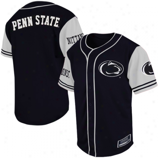 Penn State Nittany Lions Rally Baseball Jersey - Navy Blue