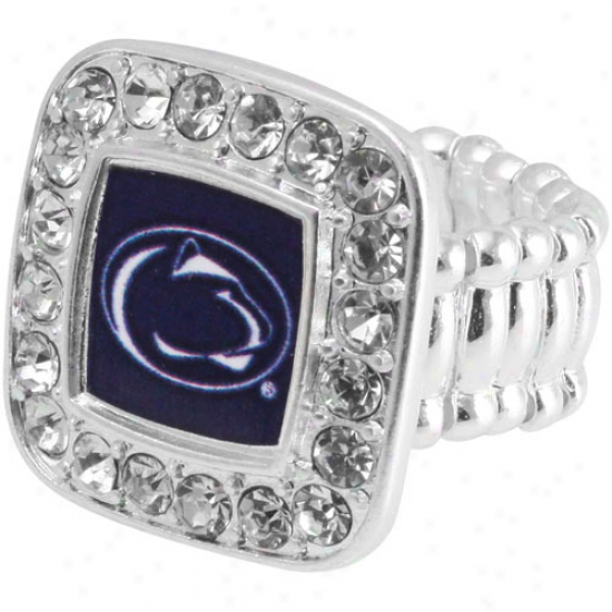 Penn State Nittany Lions Team Lkgo Square Crysgal Ring