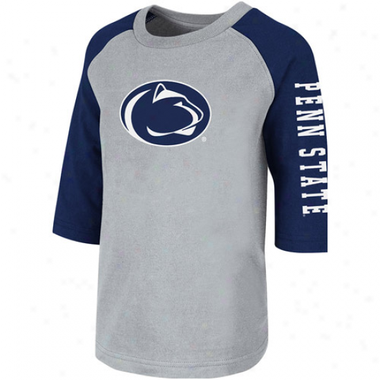 Penn State Nittany Lions Toddler Fullback Raglan Three-quarter Sleeve T-shirt - Gray