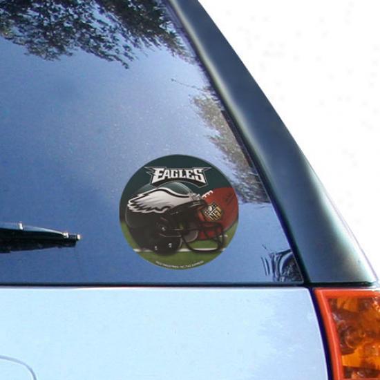 """""""philadelphia Eagles 4.5"""""""" Round Vinyl Helmet Decal"""""""